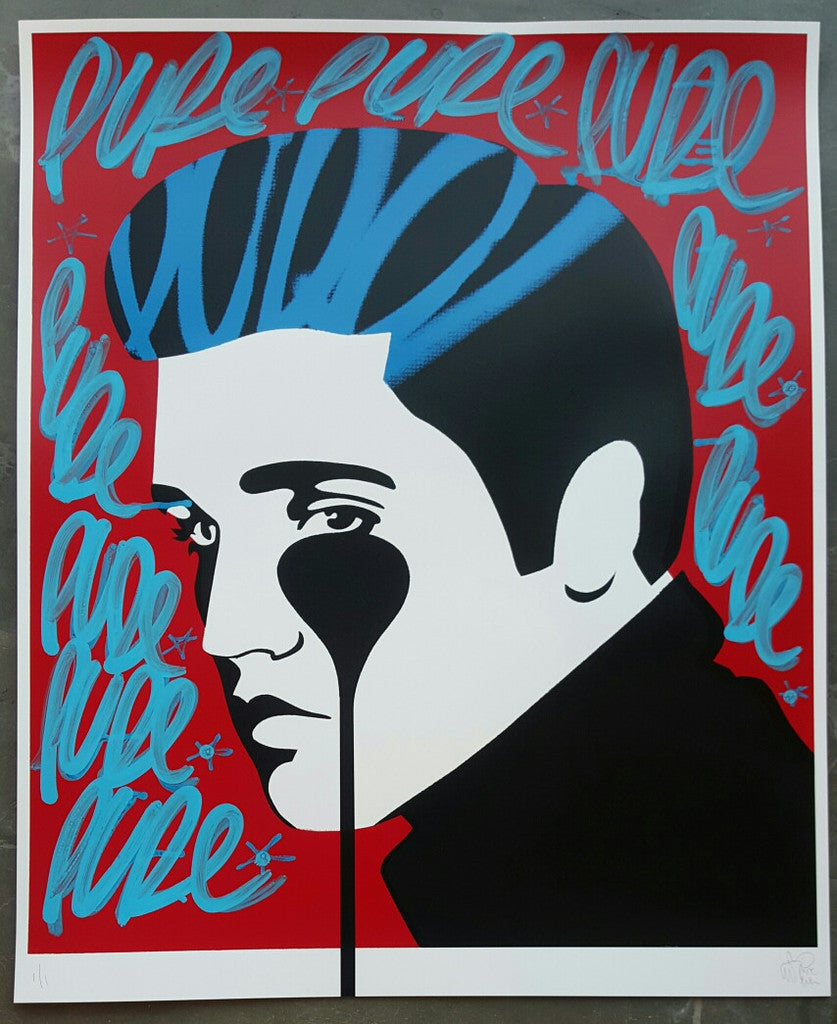 Pure Evil - Pure Elvis 1/1 Hand-Finished Signed Original Screenprint