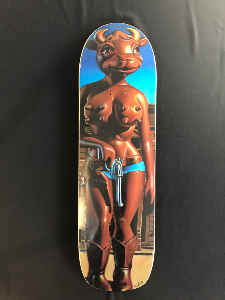 Ron English Cathy Skatedeck Signed