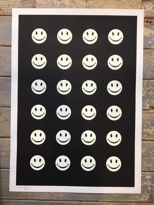 Ryca- Screenprint - Edition- Little smiley Dots