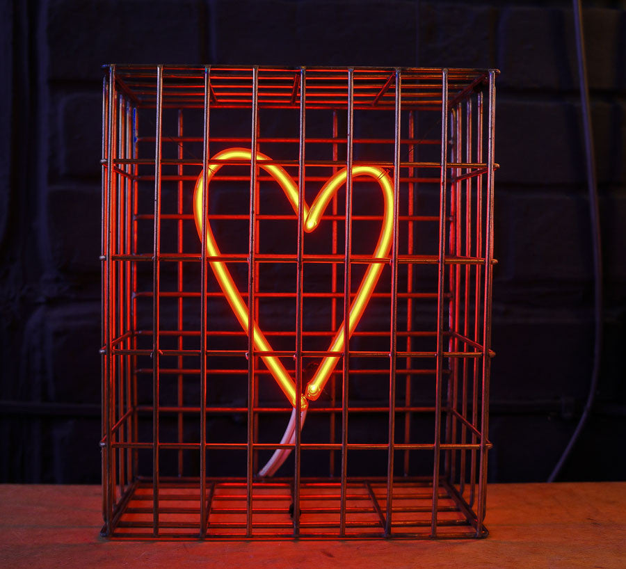 Andy Doig - Safe From Harm Red Neon Heart Art