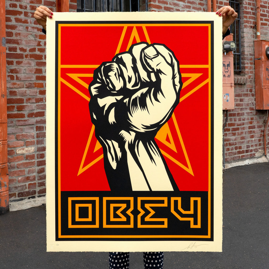 Shepard Fairey - Obey Fist - Large Format Signed Print
