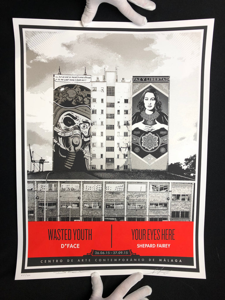 Shepard Fairey X D*Face - Wasted Youth/ Your Eyes Here