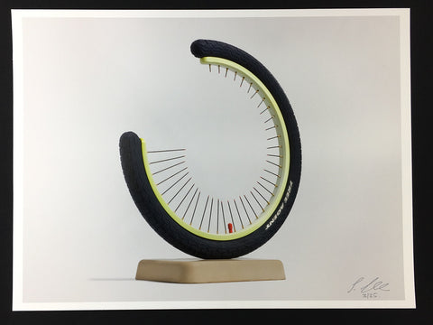 Simon Shepherd - Reinventing The Wheel - Signed Print Brighton Ceramic Sculpture