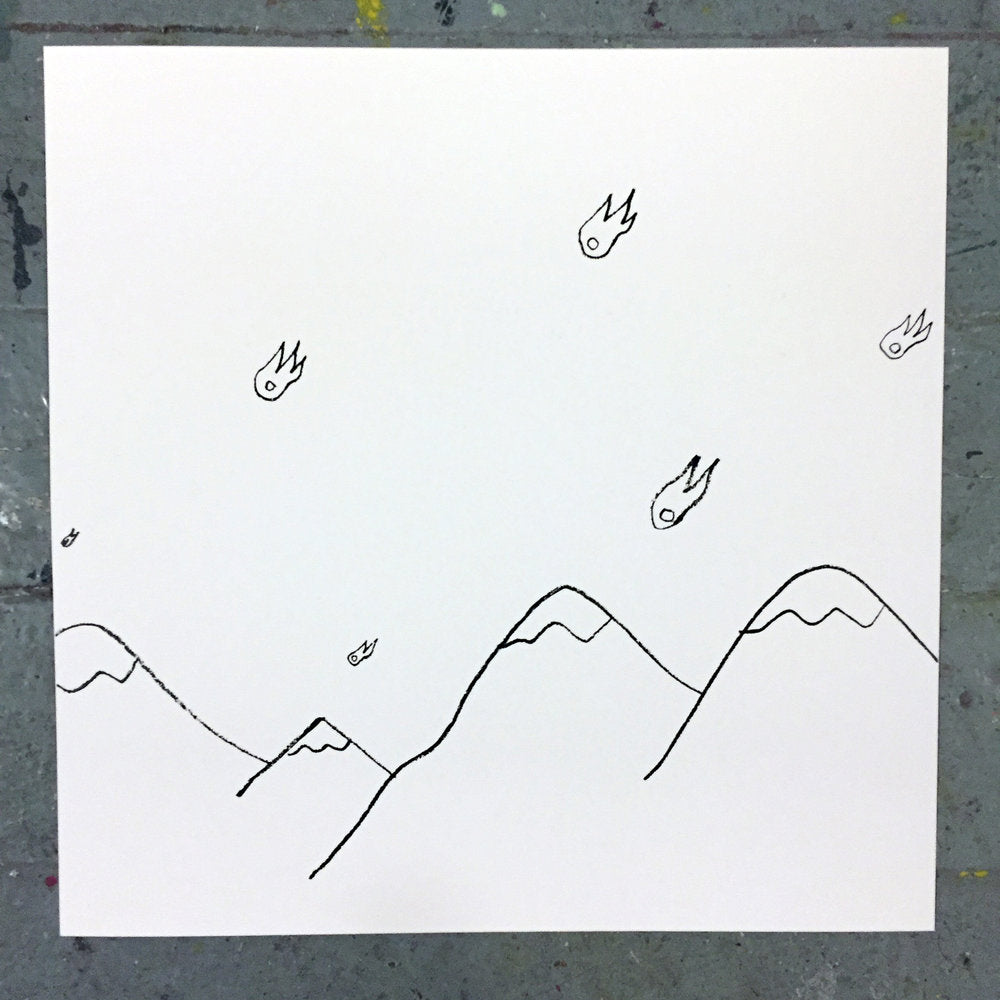 Euan Roberts - Skyfall Over The Alps - Signed Screenprint