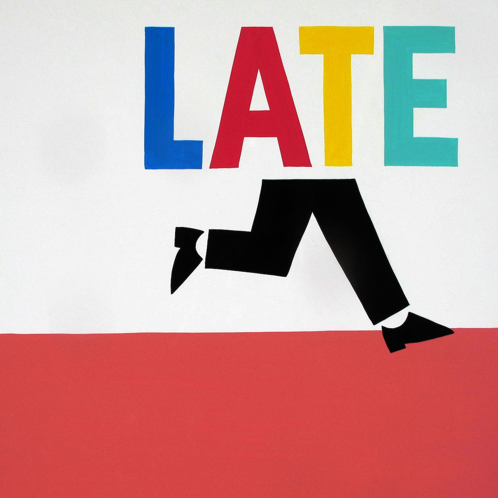 Steve ESPO Powers - Running Late Signed Screenprint