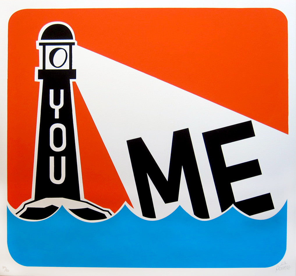 Steve Powers / ESPO - You And Me Orange Sky Signed Screenprint