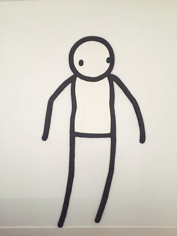 Stik - Original Sculpture - Rare Original Signed Stik Street Art Canvas