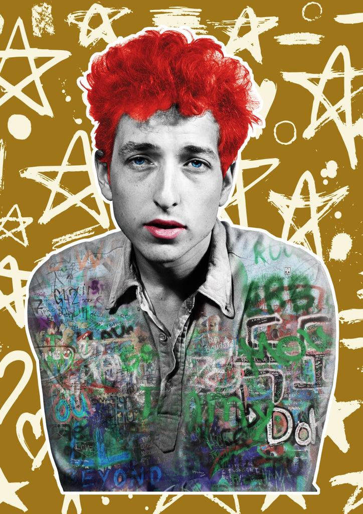 The Postman Art - Bob Dylan Graff Print Signed Brighton
