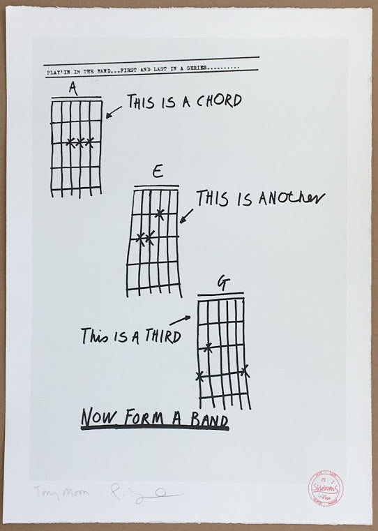 Tony Moon Three Chords Now Form A Band Prescription Art