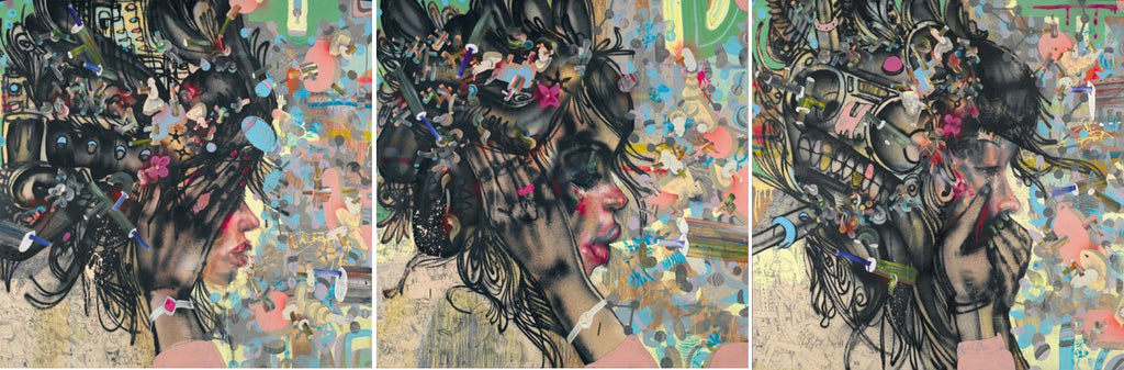 David Choe - Triptych - Signed Limited Edition Print