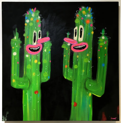 Unknown - Cactus Painting (XL)