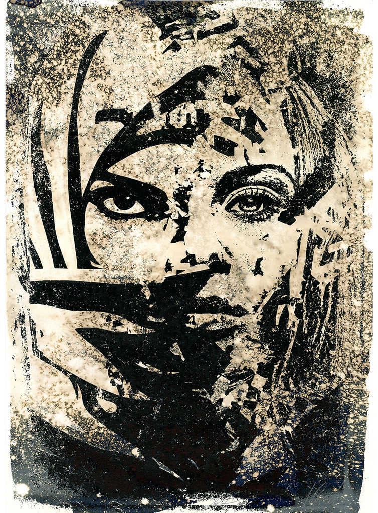 Vhils & Shepard Fairey - Universal Personhood - Signed Screenprint