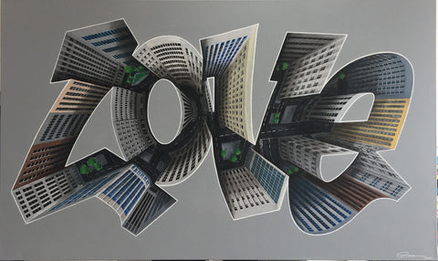 Dean Zeus Colman - City Love (Large Original Canvas)