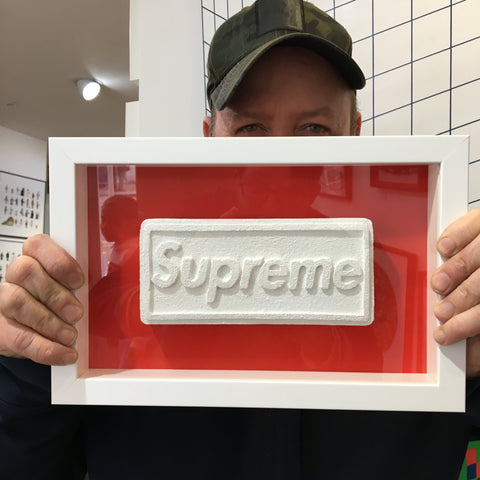 Zeus - Love Is A Drug (Supreme Box Logo - White On Red)