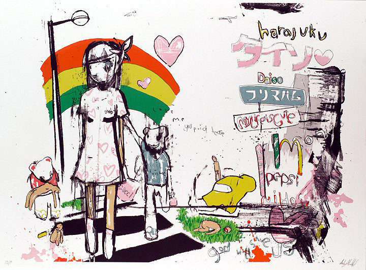 Antony Micallef - My Walk In Harajuku - Signed Lithograph Screenprint Eyestorm