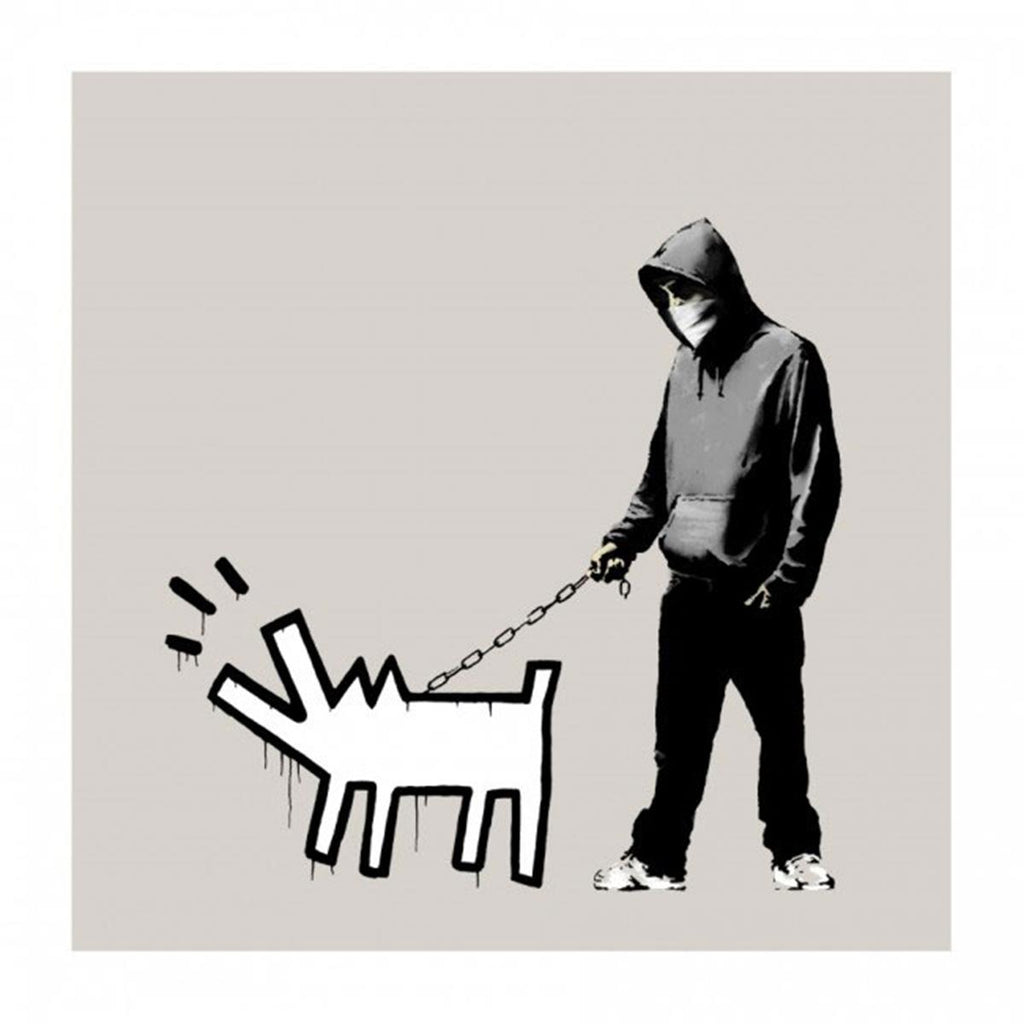 Banksy - Choose Your Weapon (Queue Jumper Grey) (Signed)