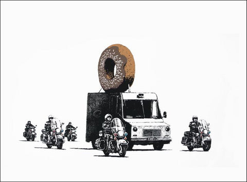Banksy - Donuts - Chocolate (Signed)
