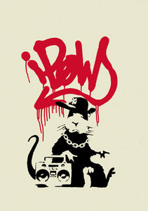 Banksy - Gangsta Rat - Unsigned Screenprint with COA