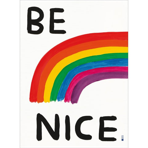 David Shrigley - Be Nice (Tea Towel)