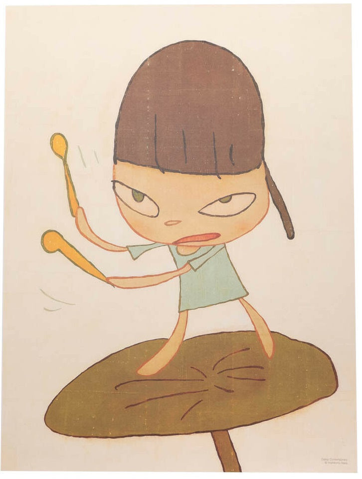 Yoshitomo Nara - Marching On A Butterbur Leaf