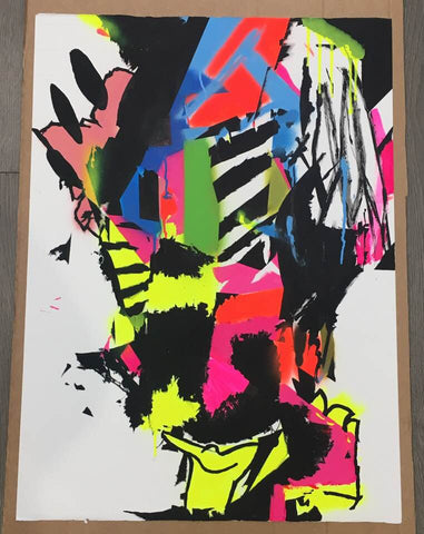 Cain Caser - Untitled (Original painting on paper)