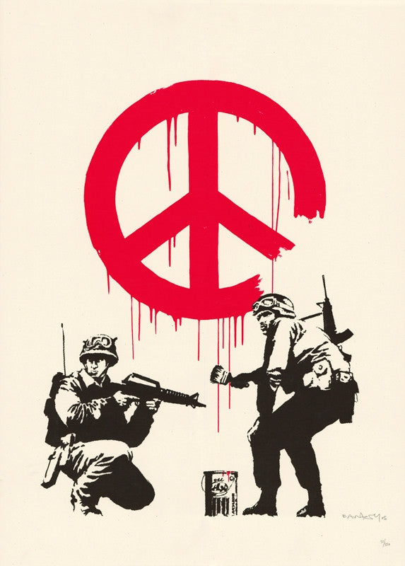 Banksy - CND Soldiers - Unsigned Print / Screenprint from Pictures On Walls