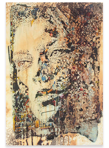 Vhils - Contingency - Signed Hand-Finished Lithograph from Underdogs Lisbon