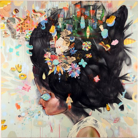 David Choe - City Girl - Signed Limited Edition Print