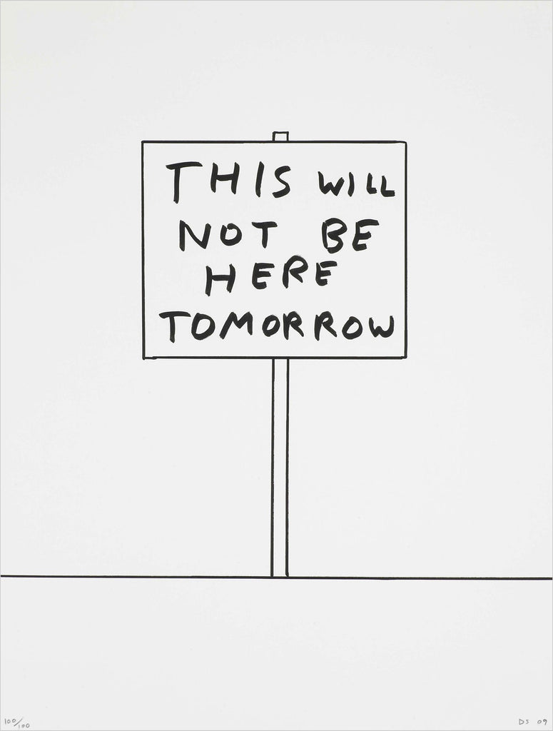 David Shrigley - Untitled (2009) This Will Not Be Here Tomorrow Counter Editions