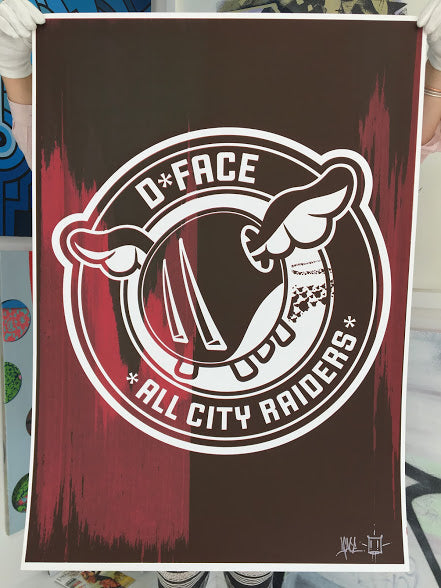 D*Face All City Raiders Maroon Edition