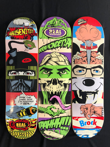 Real Skateboards Real Busenitz Dface Deck 8.0""