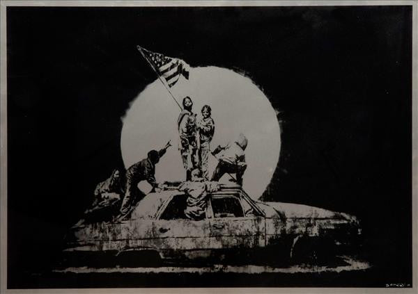 Banksy - Flag / Flags Print Screenprint
