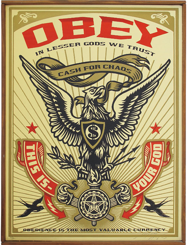 Shepard Fairey - Lesser Gods Eagle (Rare Canvas Edition of 2!)