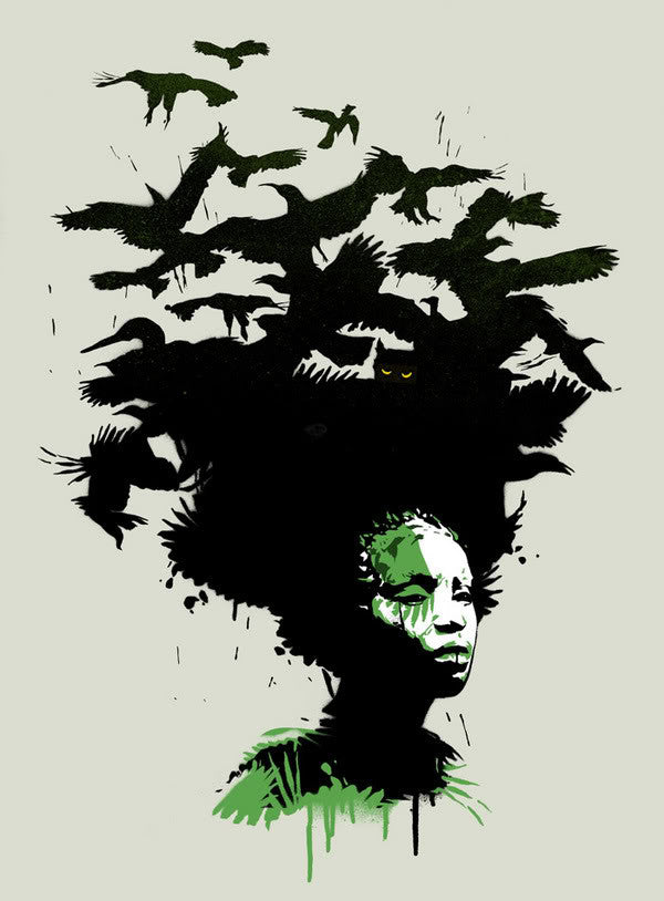 Eelus - Raven Haired - Gambia Edition Signed Print