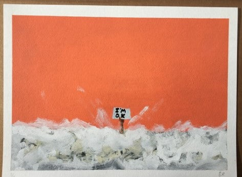 Euan Roberts - I'm OK (Hand Finished - Orange)
