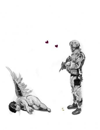 Antony Micallef - Friendly Fire - Signed Pictures On Walls Print