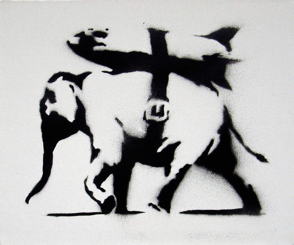 Banksy - Heavy Weaponry Canvas - Edition of 25