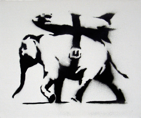 Banksy - Heavy Weaponry (Original Canvas)