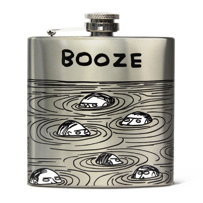 David Shrigley Hip Flask