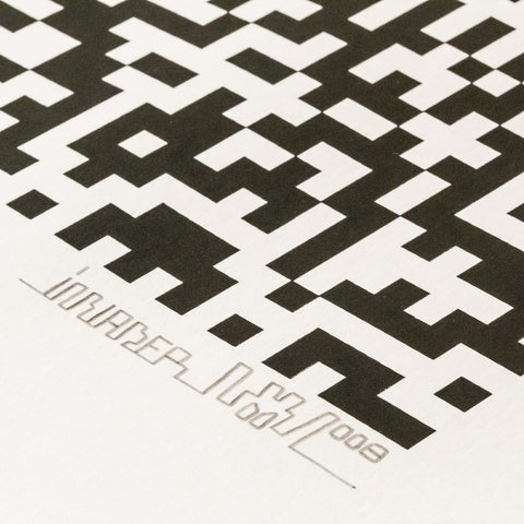 Invader - Binary Code (Black)
