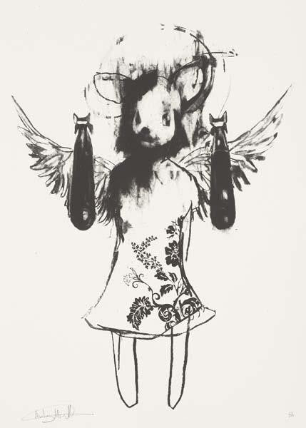 Antony Micallef - Light Angel Bomber 1 - Signed Pictures On Walls Print / Screenprint