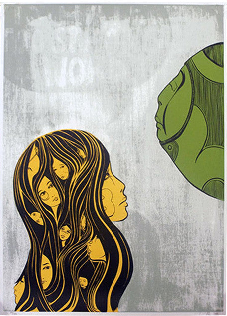Lucy McLauchlan - Is Hate Too Strong A Word (Green) Signed Print Pictures On Walls Screenprint