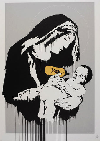 Banksy - Toxic / Virgin Mary Print - Unsigned Screenprint with COA