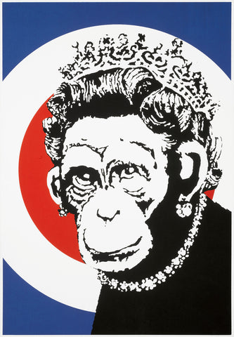 Banksy - Monkey Queen (Signed)