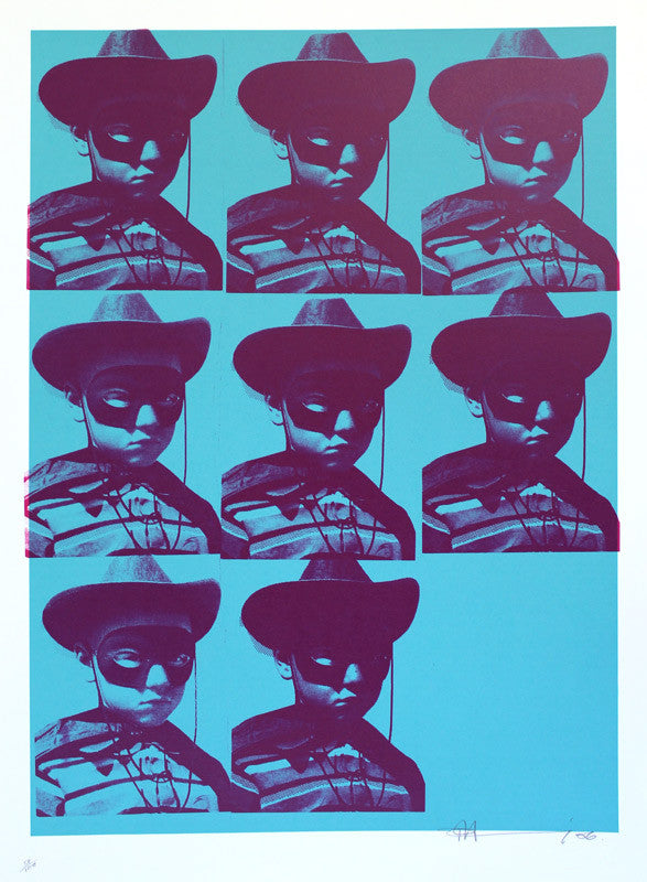 Paul Insect / DJ Shadow - The Outsider Kid Print in Blue