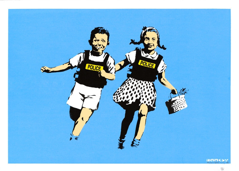 Banksy Print - Jack & Jill / Police Kids - Unsigned Screenprint