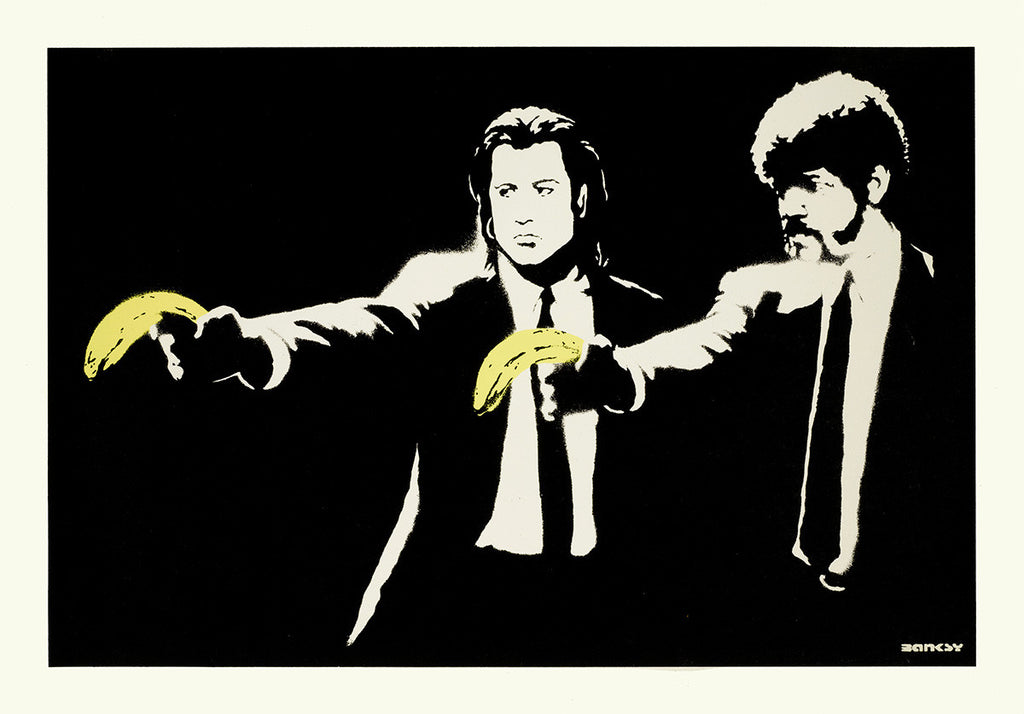 Banksy - Pulp Fiction Unsigned Print / Screenprint with COA