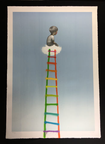 Seth Globepainter - The Ladder - Hand Finished Lithograph