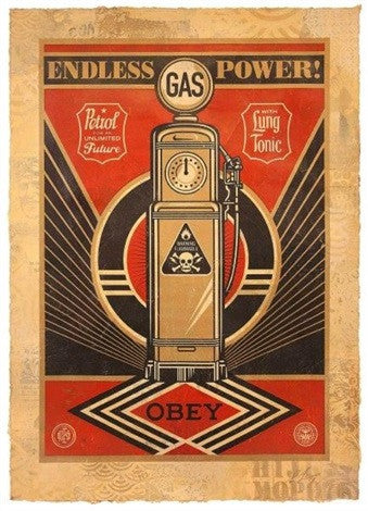 Shepard Fairey - Endless Power (Framed HPM)
