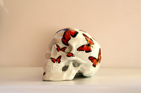 NOON - Skull Red Butterfly (Porcelain)